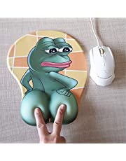 3D Anime Mouse Pads with Silicone Gel Wrist Rest Gaming Frog Mousepads 2Way Skin (MK001)