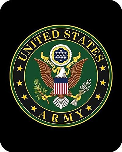 Us Army Emblem Medium Weight Queen Size Faux Fur Blanket ()