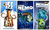 Ice Age + Finding Nemo + Monsters Inc. VHS