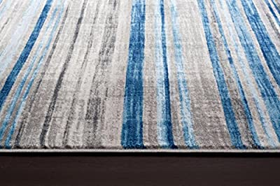 2386 Gray Blue Area Rug Modern Carpet Large New