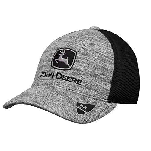 - John Deere Memory Fit - Space Dye Cap-Black-Os