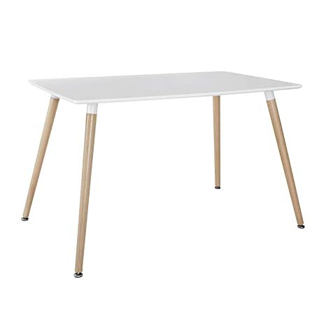 Amazon.com: Mlfyho - Mesa cuadrada de comedor de color ...