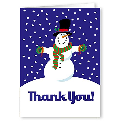 Holiday Snowman Thank You Boxed Note Card - 18 Cards & Envelopes - Snowman Note Card