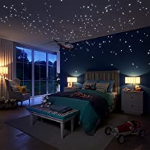 Glow in the Dark Stars Wall Stickers, 504 Dots and Moon for Starry Sky, Stars Kids Bedding Room ,Beautiful Wall Decals for any Bedroom or Party, Stars for Ceiling by LIDERSTAR ,Delight The One You Love.