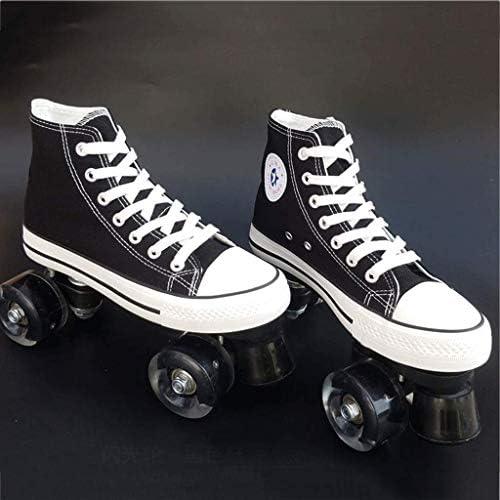 CANVAS大人用ダブルロウアイススケートローラースケート大人用男性用婦人用ダブルロウローラースケートオールホイールフラッシュバイク