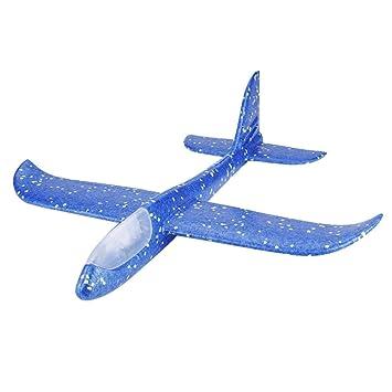 Blau Wurf Flugzeug Garsent Outdoor Segelflugzeug Schaum Flugzeug Spielzeug f/ür Kinder 1 St/ück