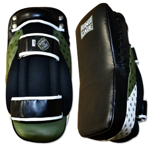 Ultima MiM Foam Leather Curved Thai Pad, for MMA, Muay Thai, Kickboxing by Ring to Cage