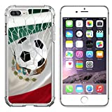 Liili Apple iPhone 6/6S Clear case Soft TPU Rubber Silicone Bumper Snap Cases iPhone6/6S Mexican flag and soccer ball football in goal net IMAGE ID 34488025