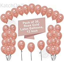 Rose Gold Balloons Party Decorations – Pack of 36, Great Rose Gold Party Supplies For Engagement, Weddings, Proms, Baby Shower, for Birthday