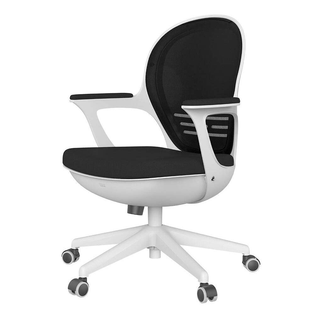 Swell Hbada Swivel Desk Chair Ergonomic Chair Comfort Seat Easy Mount Adjustable Height Breathable Thick Cushion Low Noise Pu Caster Black Gmtry Best Dining Table And Chair Ideas Images Gmtryco