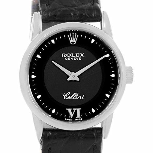 rolex cellini quartz womens 6111 certified pre owned