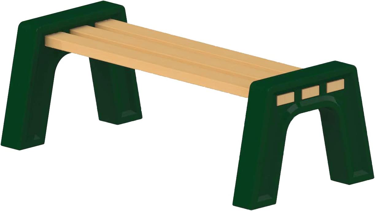 RTS Companies Inc 570100300F4281 DIY Plastic Bench Ends Without Back Rest (Wood & Screws Sold Separately), Kentucky Green