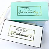 Bridesmaid Proposal Box with Gold Plated Gift Box Empty Box, Will You be My Bridesmaid (1 Box, Aqua)