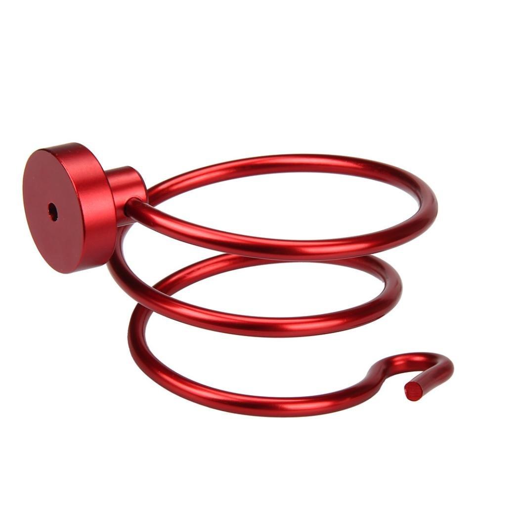 Siswong 1piè ce sè che cheveux Espace Rack en aluminium support mural de salle de bain é tagè re de rangement, Mé tal, Red, 9*9*12.5cm / 3.54*3.54*4.92inch Métal