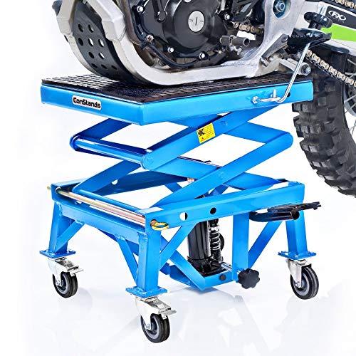ConStands Hydraulik Hebeb/ühne Blau f/ür KTM 950 Super Enduro//R Freeride 350 Moto-Cross XL mit Rollen