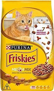 Ração Seca Nestle Friskies Megamix para Gatos Adultos e Castrados - 1kg Purina para Todas Todos os tamanhos de