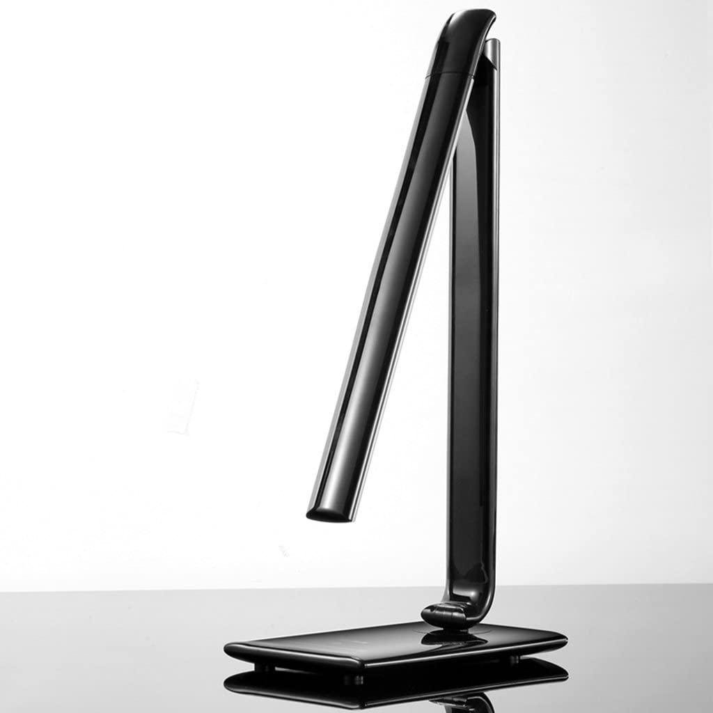 -lampara mesa Lámpara LED, Luz de protección para los ojos, Temperatura de color ajustable Lectura de trabajo, Deslizamiento 7 Luminosidad 5 Pole Palette Lámpara de mesa decorativa ( Color : Black )