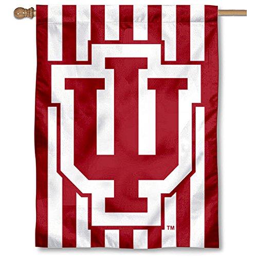 IU Hoosiers Candy Stripe Double Sided House Flag -