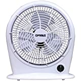 Optimus F-1030-a 10-Inch 3-Speed Personal Fan, White