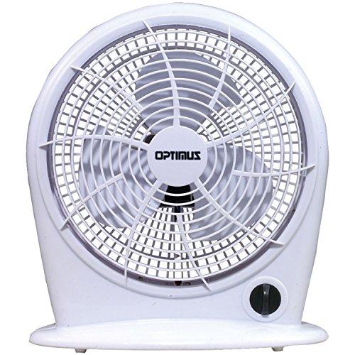 Optimus F-1030-a 10-Inch 3-Speed Personal Fan, White