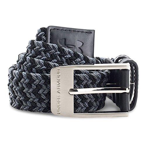 Under Armour Boys' Braided Golf Belt, Black/Rhino Gray, One Size