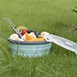 Camping Bowl with Lid Collapsible Silicone Bowl and