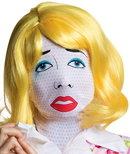Rubie's Costume Co Women's Pop Art Mask, Multi, One Size (Wig Halloween Costume Mask)