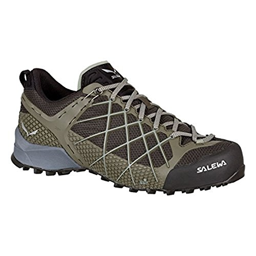 Salewa Men's Wildfire Shoes Black Olive/Siberia 10.5 & Cooling Towel (Wildfire Shoes)