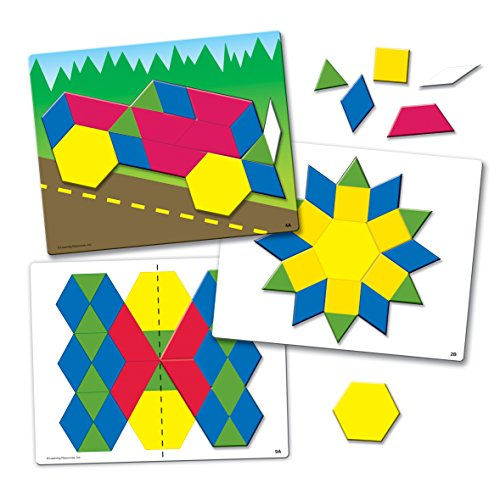 Learning Foam Magnetic Resources (Learning Resources Magnetic Pattern Block Activity Set)