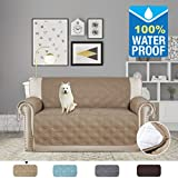 Bon H.VERSAILTEX 100% Waterproof Loveseat Cover For Leather Couch Non Slip Furniture  Covers