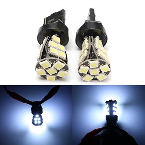 MASUNNi da un lato T20 lampadine laterali lampade canbus nessun errore W21 5W T20 6000K LED bianco diurno DRL