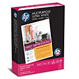 HP 112000 Multipurpose Paper, 96 Brightness, 20 lb, 8 1/2 x 11, White, 500 Sheets per Ream