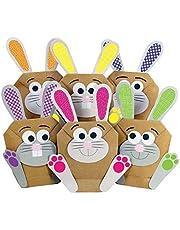 Papierdrachen 12 DIY Osterhasen Tüten - Blaue Geschenktüten zu Ostern zum selber Befüllen – zum Verpacken von Geschenken für Kinder und Erwachsene