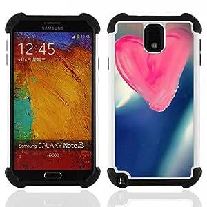 """Hypernova Híbrido Heavy Duty armadura cubierta silicona prueba golpes Funda caso resistente Para SAMSUNG Galaxy Note 3 III / N9000 / N9005 [Amor Amor rosado""""]"""