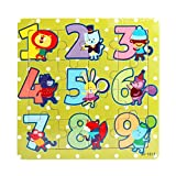 Wooden Toys Magnetic Puzzles Kids Wooden Games Education Learning Toys For children (Green)