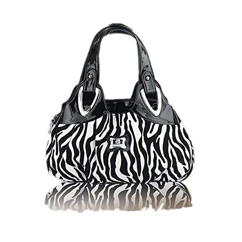 Bolso Zebra De Fashion Estampado Lady Mano Blanco Rose qfrRq