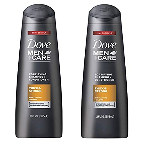 Fortifying Care - Dove Men+Care Thick and Strong Fortifying 2in1 Shampoo and Conditioner 12 FL OZ - Pack of 2