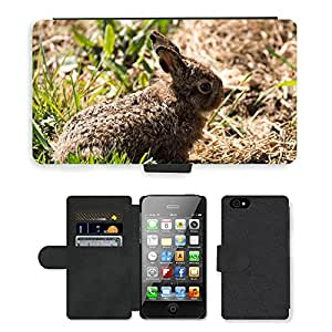 Super Stella Cell Phone Card Slot PU Leather Wallet Case // M00107230 Hare Easter Bunny Rabbit Hare Baby // Apple iPhone 4 4S 4G