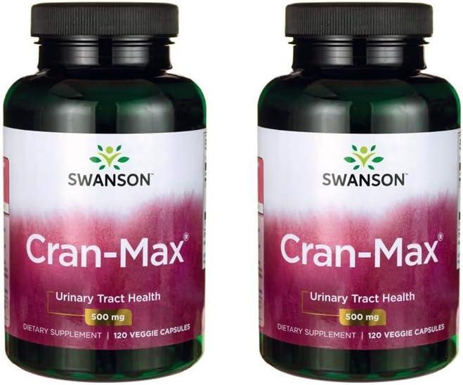 Swanson Cran-Max 500 mg 120 Veg Caps 2 Pack