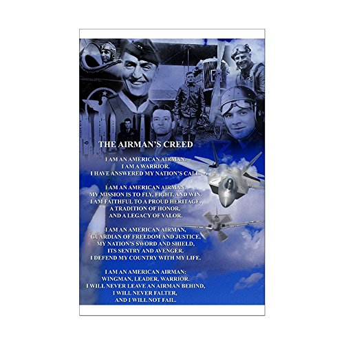 CafePress - New! Historic Airman's Creed - Mini Poster Print