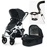 UPPAbaby 2010 Vista Stroller Jake Black With a Cup Holder