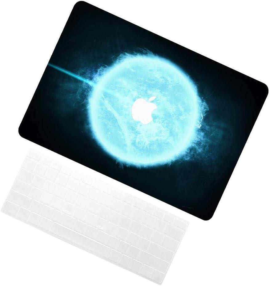 TRUUA Macbook Air Case pour Newest Macbook Air 13 Inch,Starry Sky 38 Conception Modèle Plastique dur Case Coques Shell & Keyboard Skin Compatible Macbook Air 13