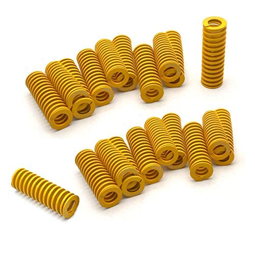 DGQ 8mm OD 20mm Long Light Load Compression Mould Die Spring Yellow 20pcs ()
