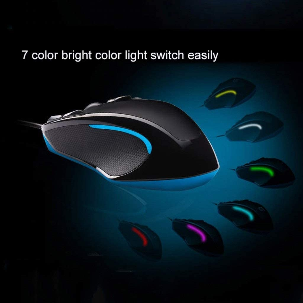 LEZDPP Home Wired Gaming Mouse Colorful Professional Office Esports Mechanical Macro Programming Interface USB