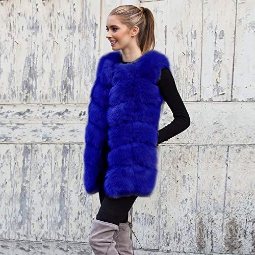 Calentar Parkas Suéter Abrigo Invierno Coat Sintética Capa Mujer Pelaje Estupendo Talla Top Blue Moda Larga Piel Casual Pkq® Cazadora Jersey Otoño s Ropa De Chaqueta Grande blue Salvaje BzgTnqw7P