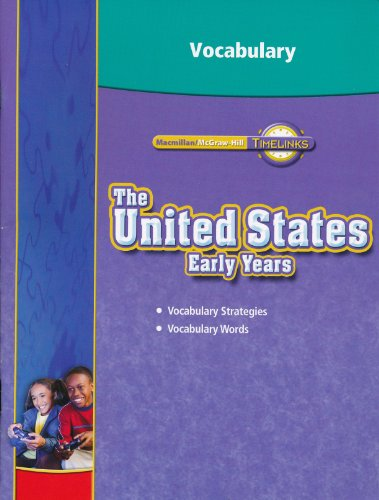 Timelinks the United States Early Years Vocabulary Workbook