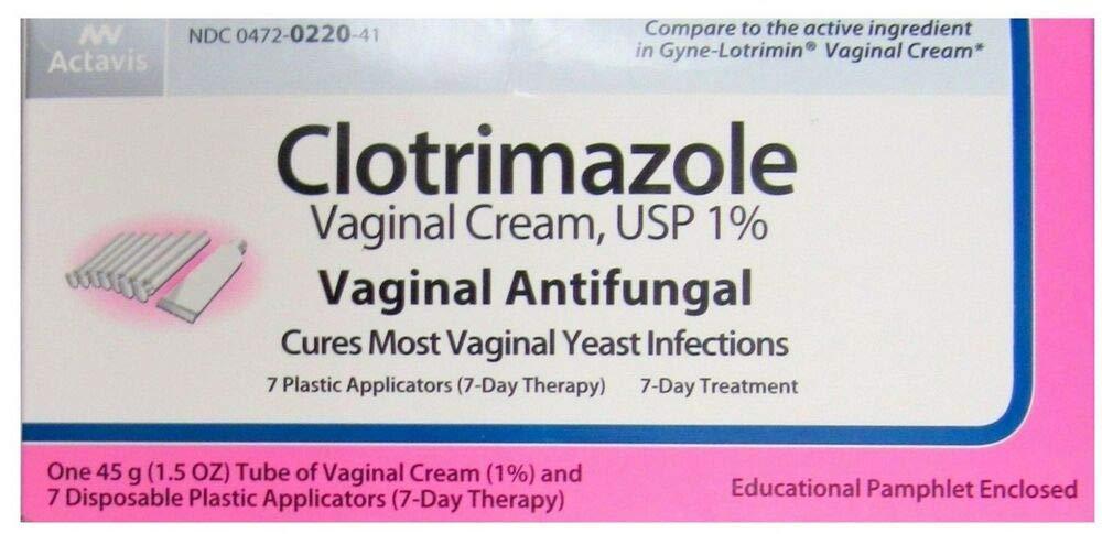 Clotrimazole Vaginal USP 1% Cream - 45 Gm