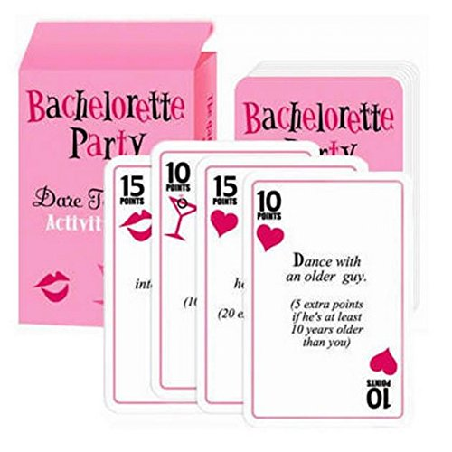 Bridal shower game gifts Bachelorette party parties games Scavenger hunt supplies favors decorations Divorce party dare cards Wedding shower Games Ladies night out and Birthday party Engagement