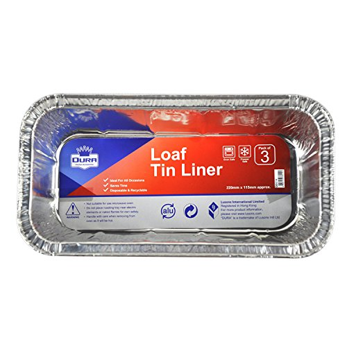 12 Pack Aluminium Loaf Tin Liner Foil Cooking Baking 220mmx115mm