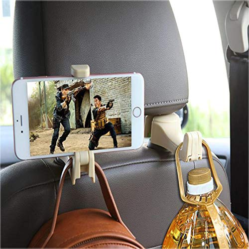 Car headrest Hooks, Hidden from The General Motors Backseat Tissue, car seat Back Hooks can be Used as a Mobile Phone Holder for Groceries with Handbag Clothing from Myckuu